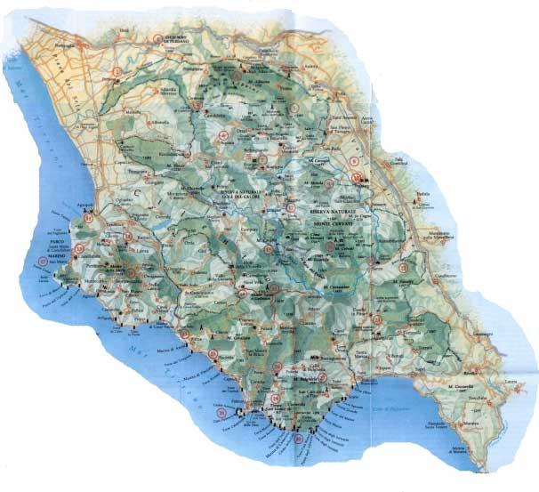 Cartina Stradale Cilento.Maxt It Palinuro
