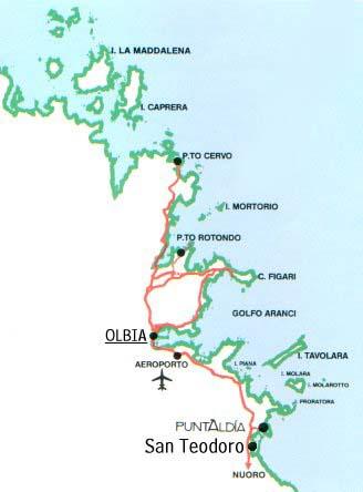 Cartina Di San Teodoro Sardegna.Maxt It San Teodoro